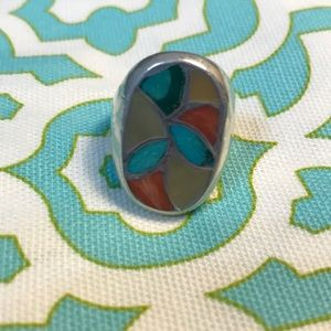 Other - Turquoise, Coral, Mother of Pearl Men's Ring